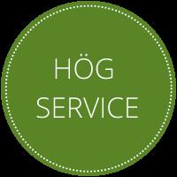 Hög service