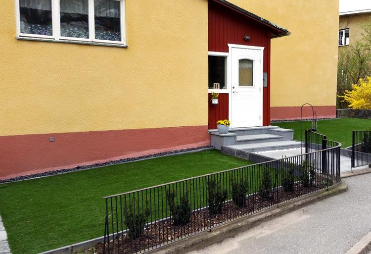 Trädgård på Stora Essingen i Stockholm