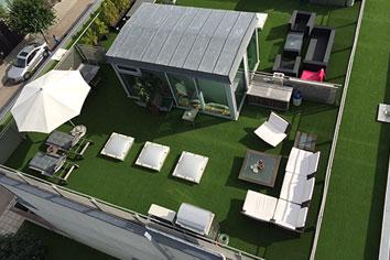 Konstgräs takterrass