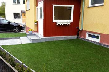 Konstgräs hus