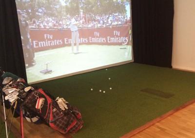 Inomhusanläggning för golf i Kista