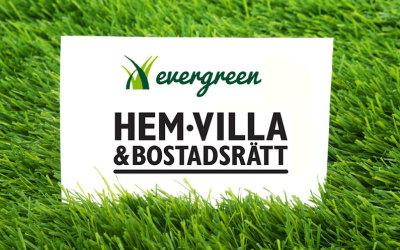 Evergreen ställer ut på Hem, Villa & Bostadsrätt 11-14 oktober