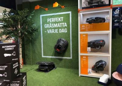 Husqvarnas popup store i Täby Centrum